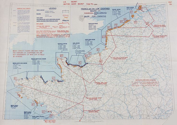 d-day invasion map