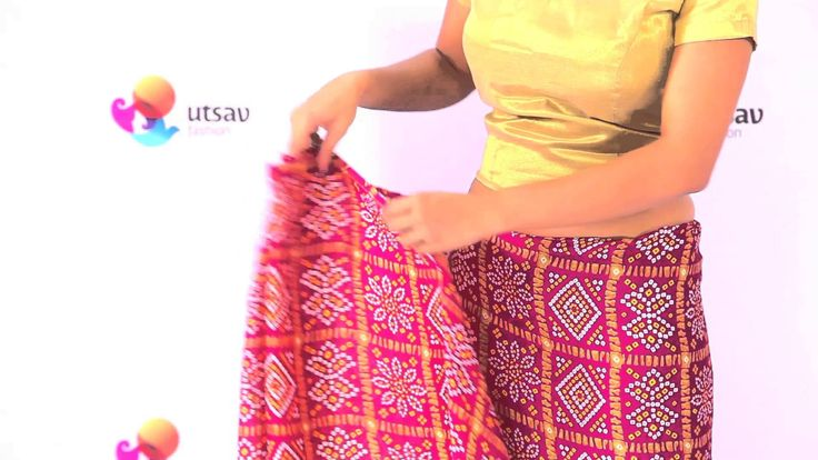 Take a look at this DIY video and instantly learn how to wear a Gujarati style saree.