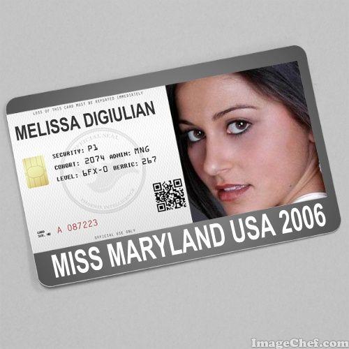 Melissa DiGiulian Miss Maryland USA 2006 card
