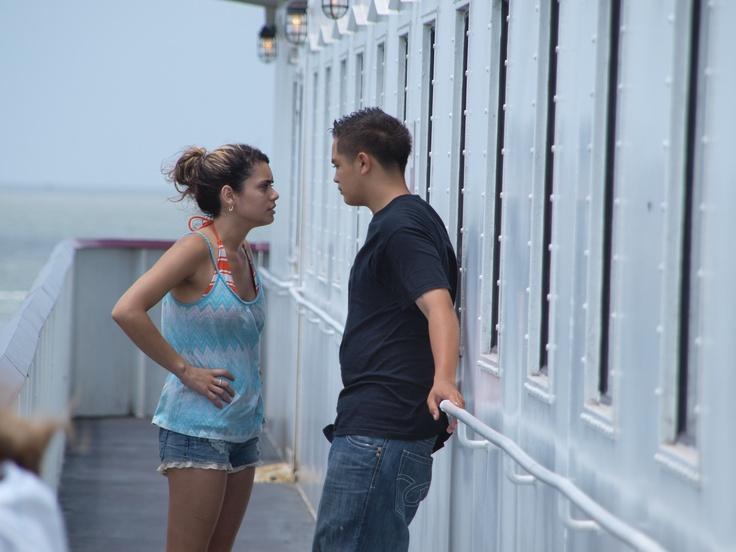 Galveston ferry couple