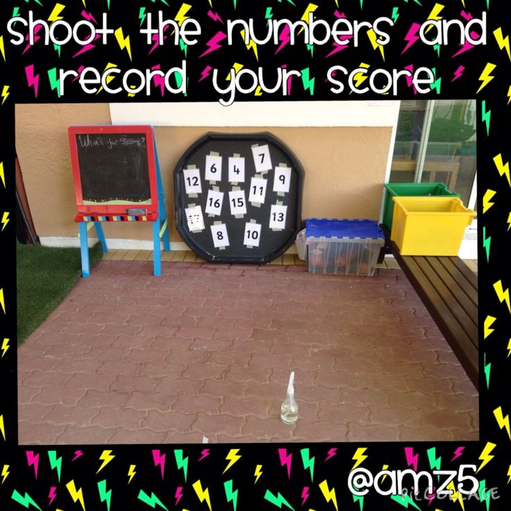 Shoot the numbers and record your score