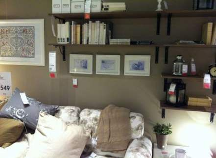 Wall shelves above couch small spaces 44+ Ideas