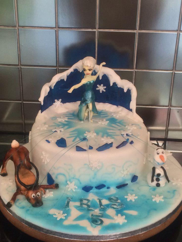 115 best Frozen birthday cake images on Pinterest Birthday cakes