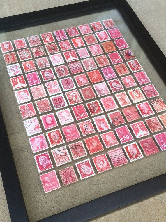 Kunst aan de muur postzegel — Roodtinten
