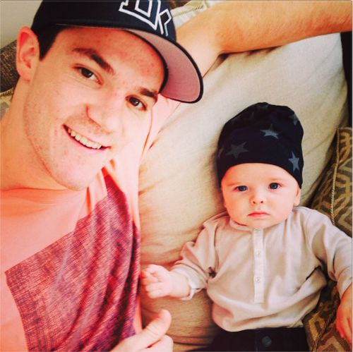 shawz65: Me and my new best friend theo hanging out! @elinacasell#theboys