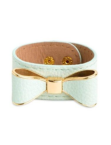 #Mint #Bow #Bracelet ♥ I cannot. CANNOT get over how cute this bracelet is