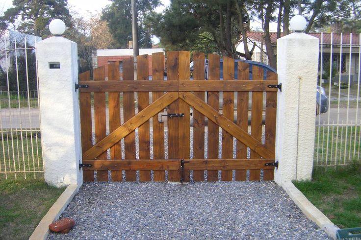 Portones a medida madera y hierro con materiales de primera 10678 mlu20032071068 012014 - Ideas casas de campo ...