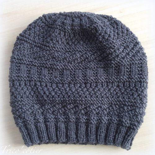 Patron bonnet homme tricot gratuit - Modele de bonnet a tricoter facile ...