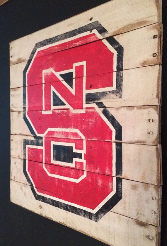 North Carolina State Sign / NC State Wolfpack by PalletsandPaint