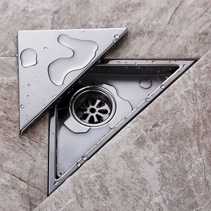 Product Name: Triangle Floor Drain. 1 x Floor Drain. 1 x Remove Tool. We will try our best to reduce the risk of the custom duties. Color: Silver. Detail Image. | eBay!