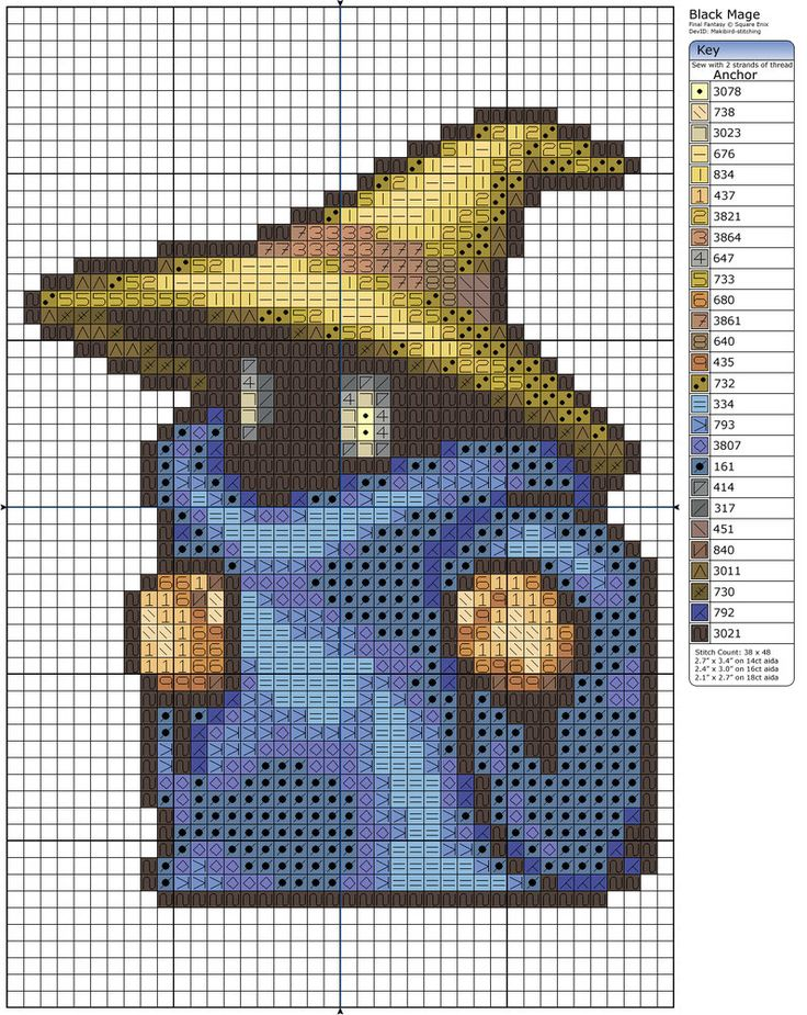 Black Mage by *Makibird-Stitching on deviantART