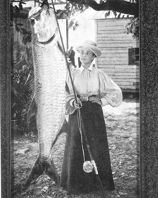 Florida Schultz Heitman with 185 pound tarpon fish by State Library and Archives of Florida, via Flickr