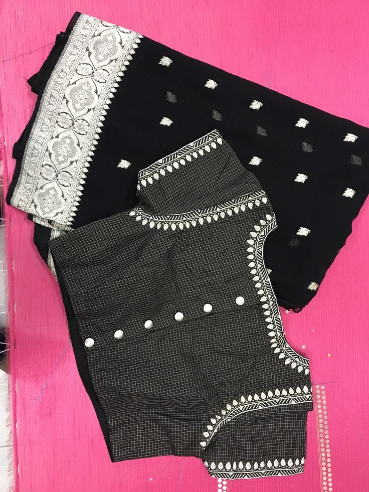 Black and silver blouse pattern
