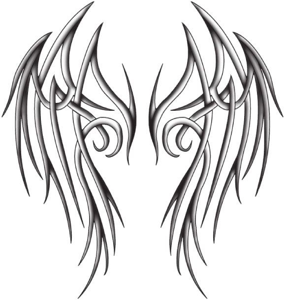Sketches Of Wings | tribal angel wings by ~katerlin on deviantART