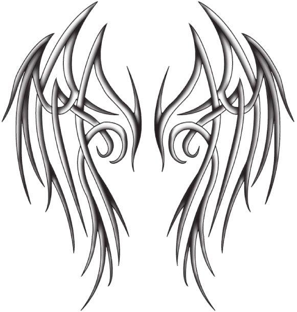 Sketches Of Wings | tribal angel wings by ~katerlin on deviantART