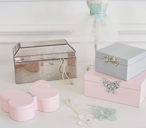 Monique Lhuillier Mirrored Jewelry Box #pbkids