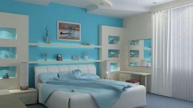 Turkuaz Rengi Yatak Odası Tasarımları