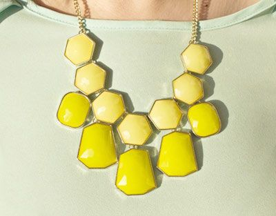 yellow statement necklace - Google Search