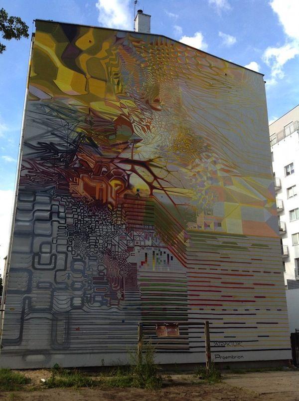 "Streetart: Proembrion – ""Atraktor"" in Gdynia, Poland"