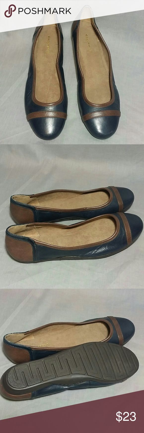 easy spirit Ballet Flat Shoes Slip-on 9 M Leather Item is in a good condition NO PETS AND SMOKE FREE HOME. Easy Spirit Shoes Flats & Loafers