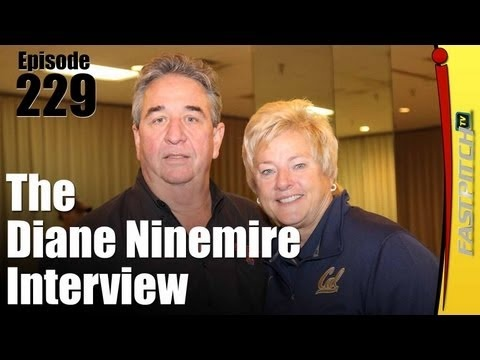 Coach Diane Ninemire, the head coach for the Cal Golden Bears.  She graduated from University of Nebraska at Omaha in 1980.  Coach Ninemire has wanted to be a coach since 4th grade.    Coach Ninemeire has many softball accomplishments including 1,000 wins and winning the 2002 Women's College World Series.   The moment that she will remember for the rest of her life will be during that WCWS top of the 7th against Arizona the score was tied 0-0 and them scoring 6 runs to with 2 outs.
