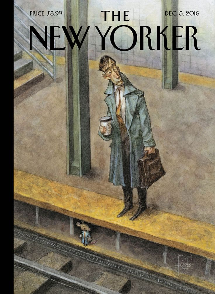 """The New Yorker - Monday, December 5, 2016 - Issue # 4666 - Vol. 92 - N° 40 - Cover """"Rat Race"""" by Peter de Sève"""