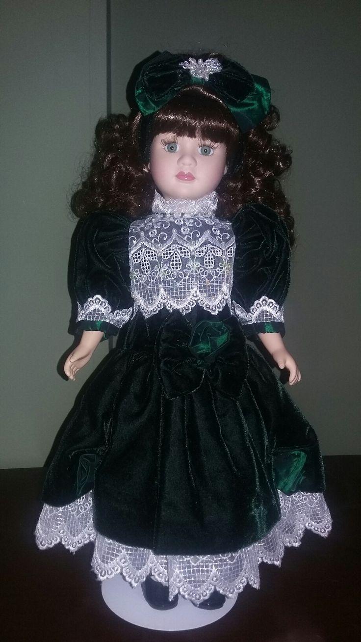 Muñeca victoriana de porcelana