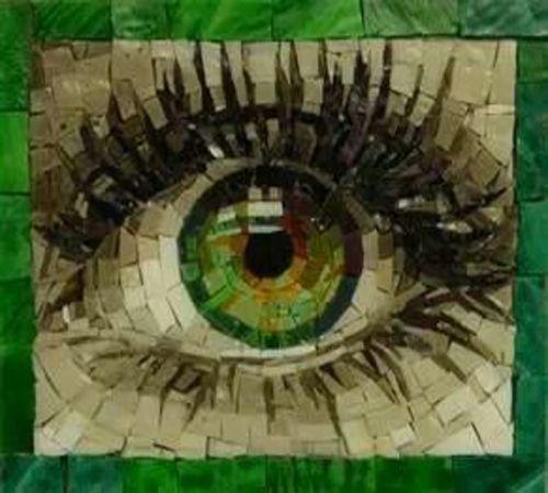 Resultado de imagem para mosaic eye art