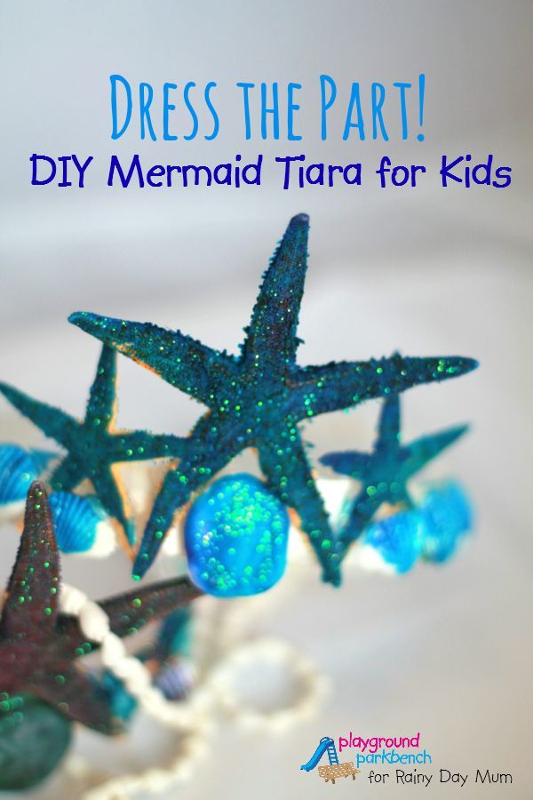 Dress the Part - DIY Mermaid Tiara for Kids, kids can make and play with this easy to make tiara click through to find out how