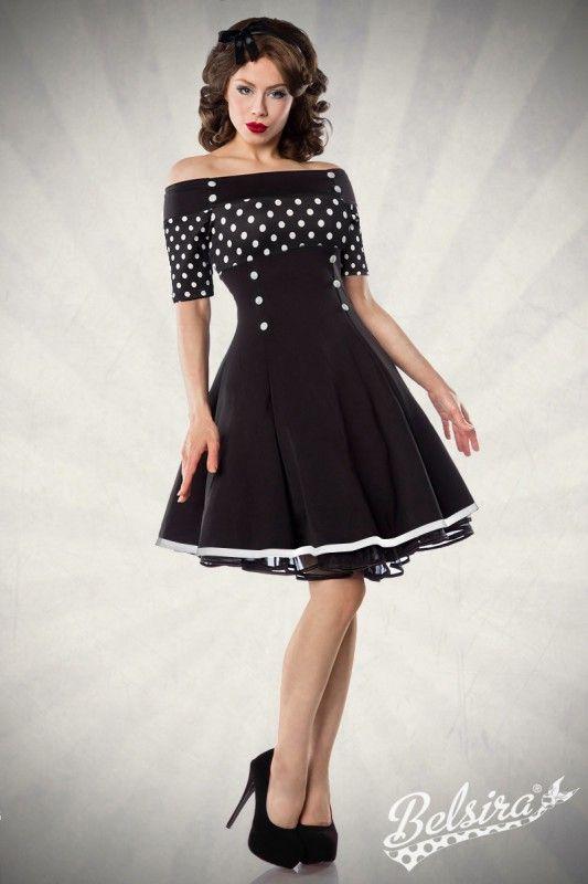 Schulterfreies #Vintage #Cocktailkleid mit #dots - My ...