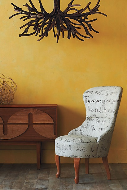 archibald chair, egoiste / athropologie: Wall Colors, Dining Rooms, Anthropology With, Archibald Chairs, Bobs Dylan, Master Bedrooms, Cotton Canvas, Lyrics, Awesome Chairs