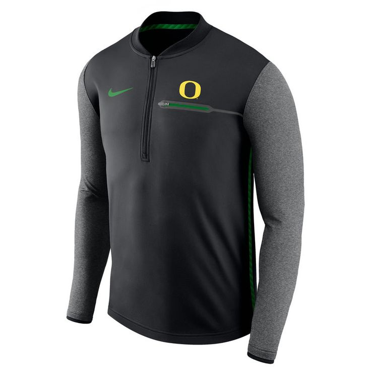 Oregon Ducks Nike 2017 Coaches Sideline Half-Zip Jacket - Black