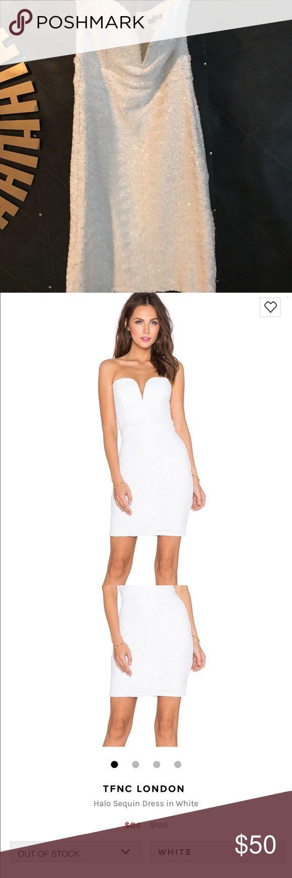 TFNC London white sequin dress from revolve! Only worn once great dress! TFNC London  Dresses Mini