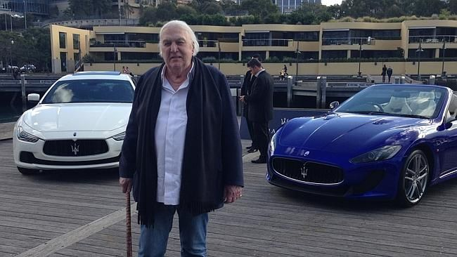 The man with the walking stick they said?  Introducing John Laws and his love of cars at Woolloomooloo