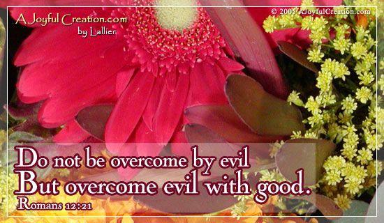 Overcome Evil A Joyful Creation Original Artists eCards - Free Christian Ecards Online Greeting Cards