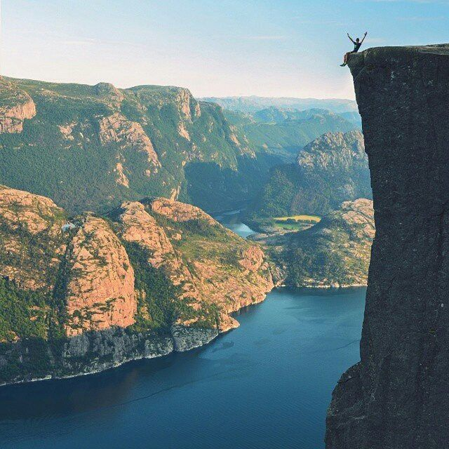 Preikestolen, Norway | Photography by @tomashavel  Check out our account @mittnorge.