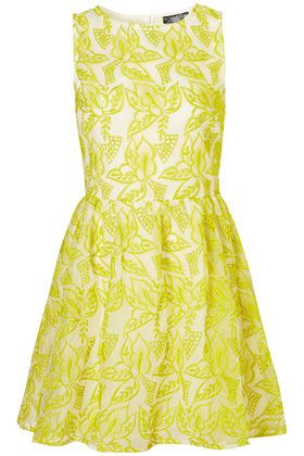 yellow floral dress...This dress is so Shea of Curves and Confidence!!!: Summer Dresses, Fashion Style, Outfit, Embroidered Organza, Closet, Yellow Dress, Organza Dress, Topshop