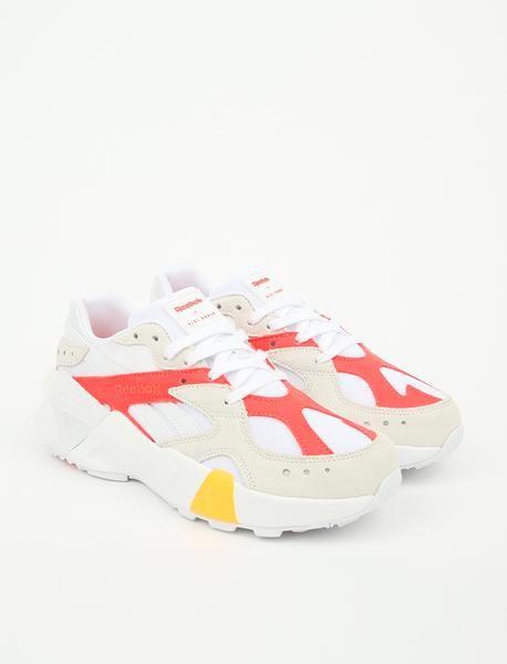 d3045108c Reebok x Gigi Hadid Aztrek - White/True Grey/Red in 2019 | Sneakers ...