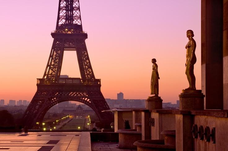 Eiffel Tower at Dawn Photograph  - Barry O Carroll