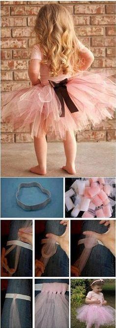 Magnifique tutu pour une petite fille à réaliser soi même. // Beautiful tutu for a little girl to carry oneself.