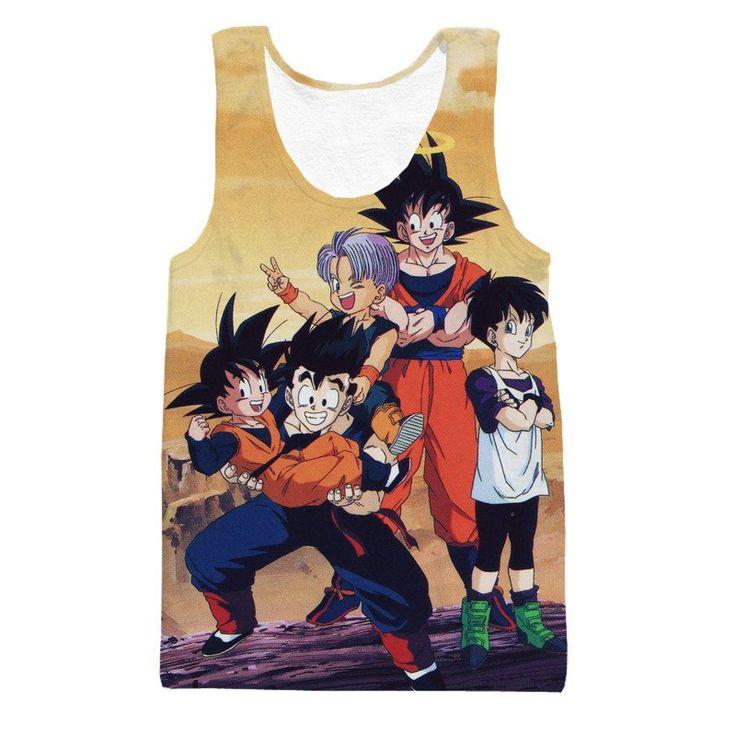 DBZ Goku Angel Kids Gohan Goten Trunks Family Cool Design Winter Tank Top  #DBZ #Goku Angel Kids #Gohan #Goten #Trunks #Family Cool Design #Winter Tank Top