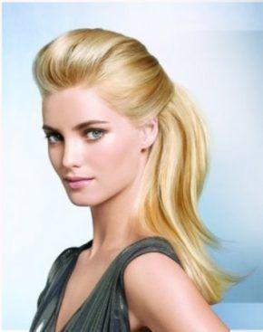 Peinados informales media cola