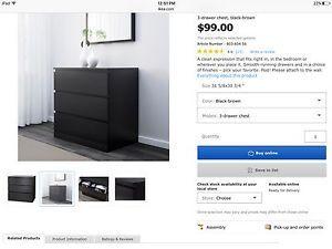 IKEA Malm set:  2 dressers and 2 nightstands