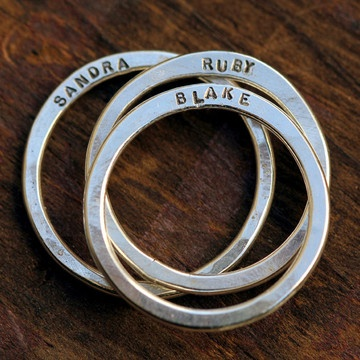 Personalized Rings w/ my kids' names. Absolutely!