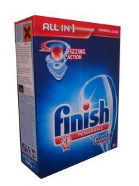 Finish All In 1 Powerball Dishwasher Tablets 56 Pack Finish Powerball All in 1 tablets have 6 actions in one tablets to give you a really powerful clean. They also help to protect your machine from limescale build-up.