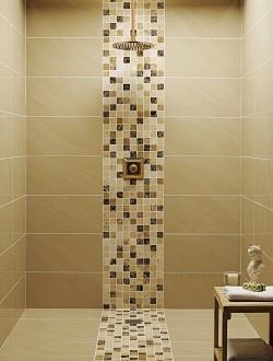 Bathroom tiles - mosaic shower tray