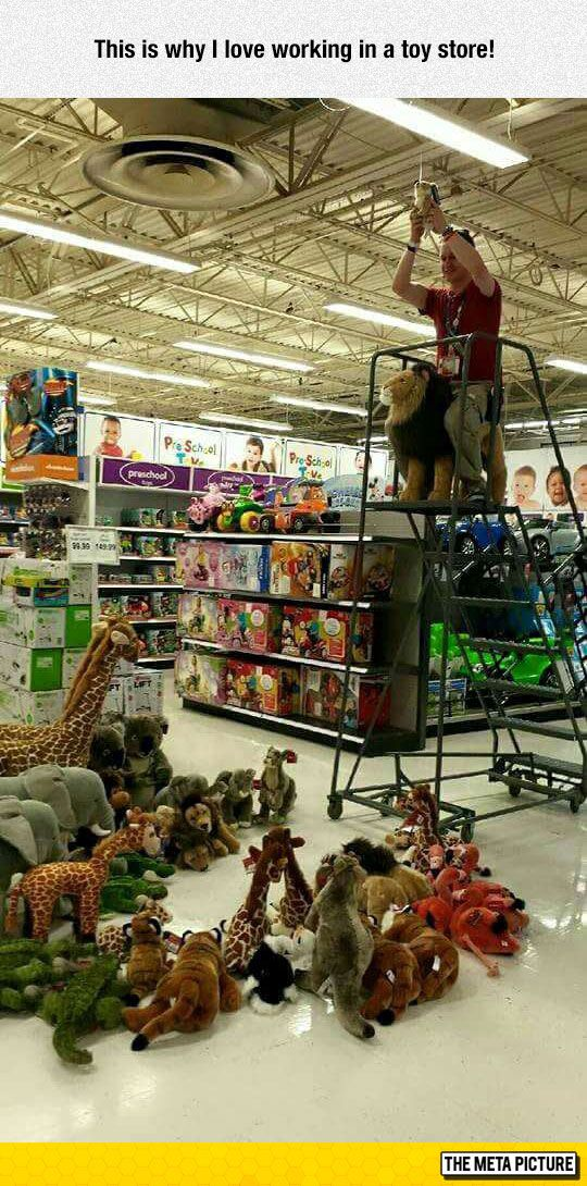 Tara - You could have been doing this when you worked at the toy store!!! Nyaaaaa Amnialsallaroundme!
