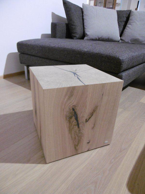 Voglauer holzw rfel holzblock kubus solid in wildeiche for Herrenzimmer modern einrichten