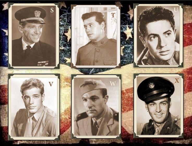 Famous Veterans S. Douglas Fairbanks, Jr., Navy T. Gordon MacRae, Army Air Corps U. Farley Granger, Army V. Guy Madison, Coast Guard W. Gene Kelly, Navy X. Alan Ladd, Army Air Corps