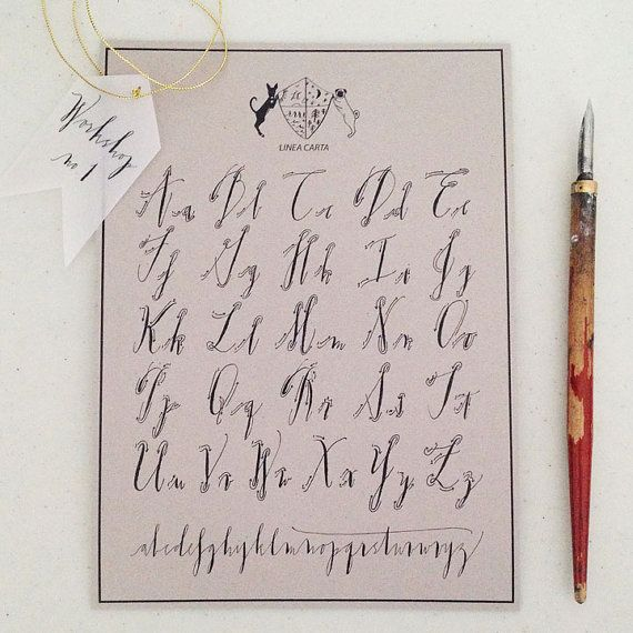 Best images about calligraphy alphabets on pinterest